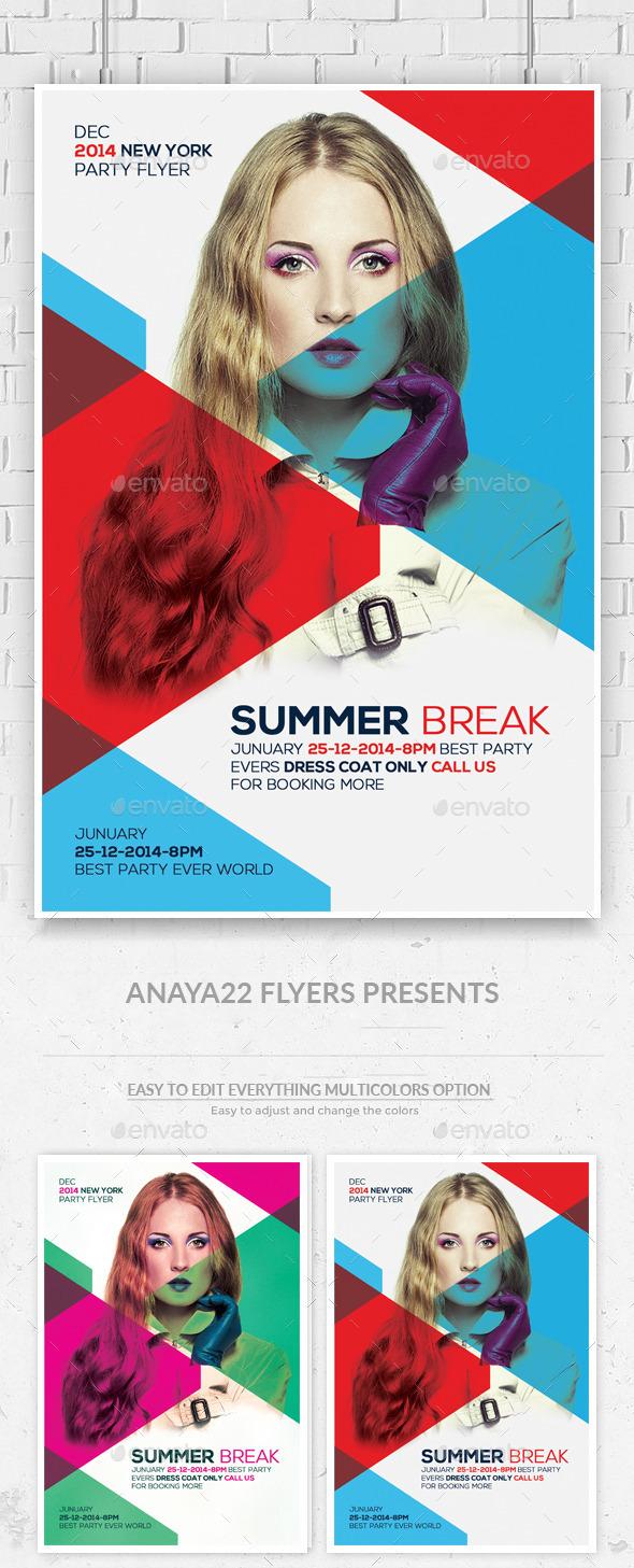 Summer Break Flyer Template - Clubs & Parties Events