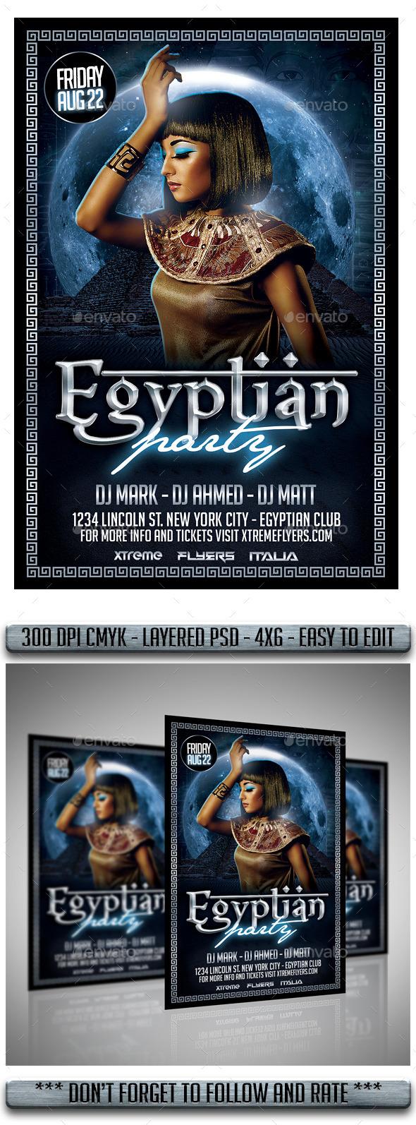 Egyptian Night Flyer - Events Flyers