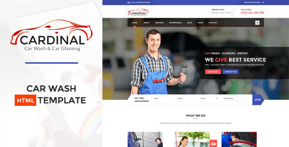 Car dinal – Car Wash & Workshop HTML Template