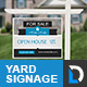 Simple Modern Real Estate Yard Signage - GraphicRiver Item for Sale