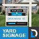 Simple Modern Real Estate Yard Signage - GraphicRiver Item for Sale