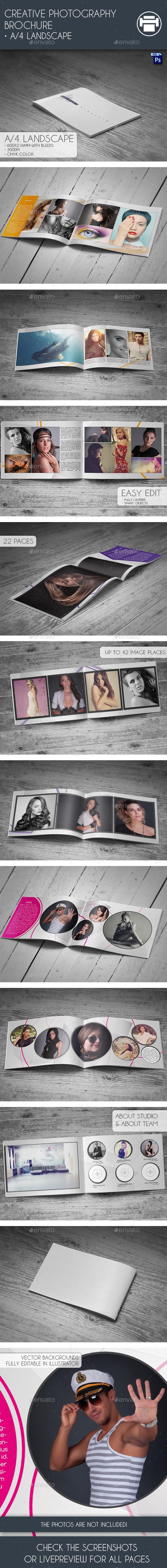 Creative Photography Brochure - Portfolio Brochures