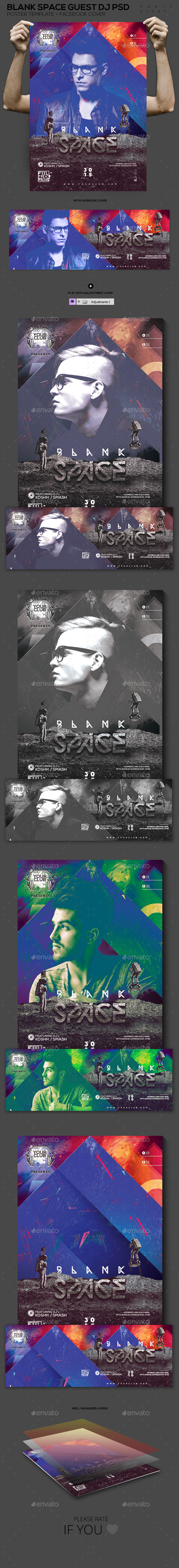 Blank Space Guest DJ PSD Template - Events Flyers