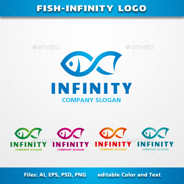 Fish Infinity Logo - Animals Logo Templates