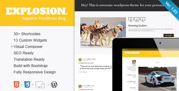 Explosion – Responsive WordPress Blog / Personal