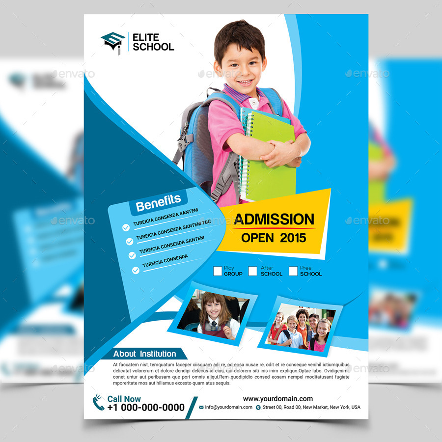 Junior School Flyer Template by aam360 | GraphicRiver