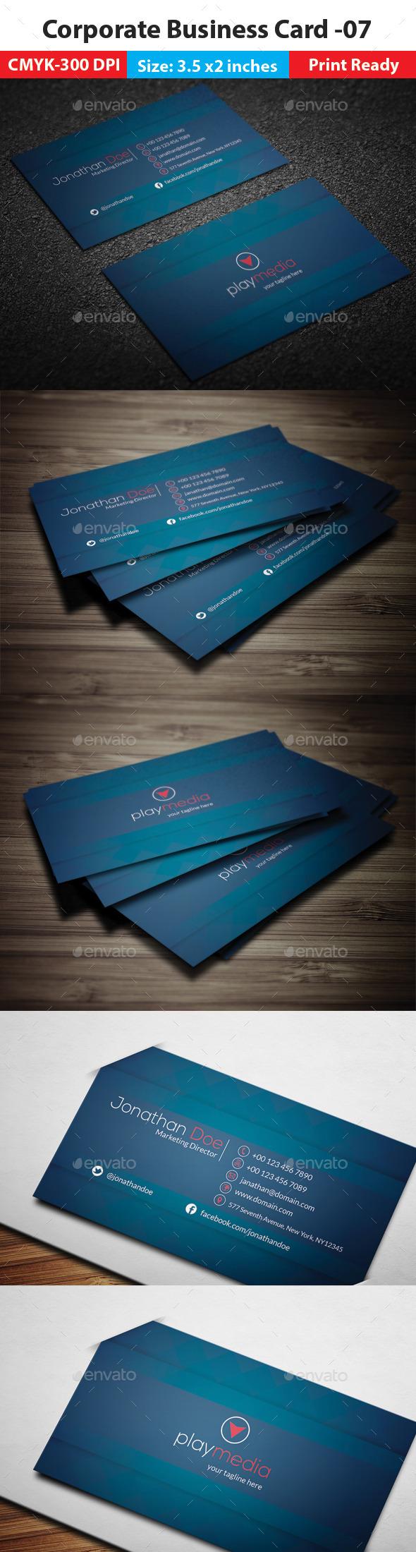 Corporate Business Card -07 - Corporate Business Cards