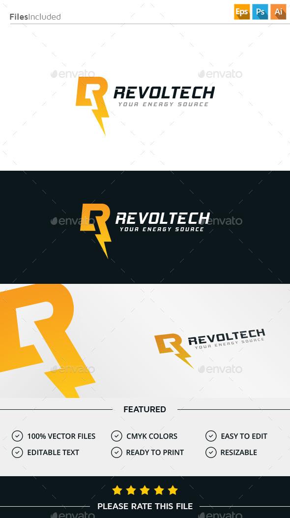 Lightning Letter R Logo - Letters Logo Templates