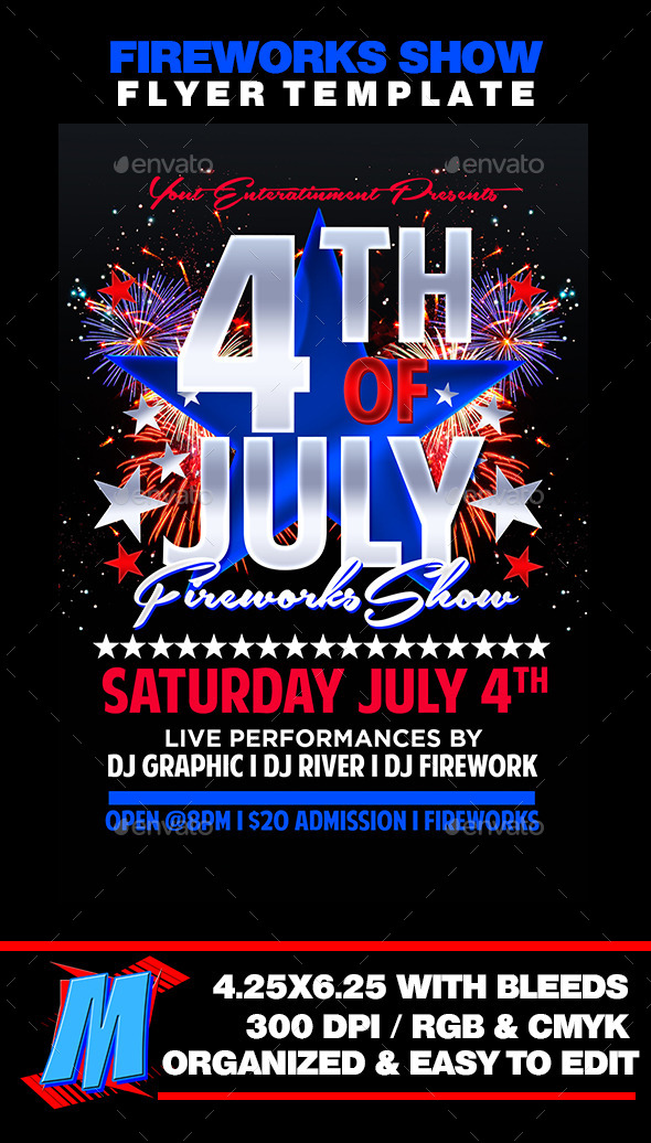 Fireworks Show Flyer Template - Events Flyers