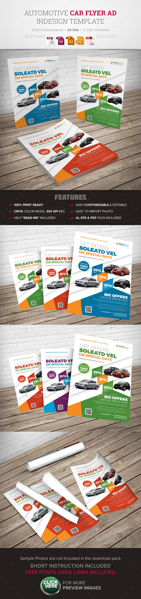 Automotive Car Flyer Ad Indesign Template - Corporate Flyers