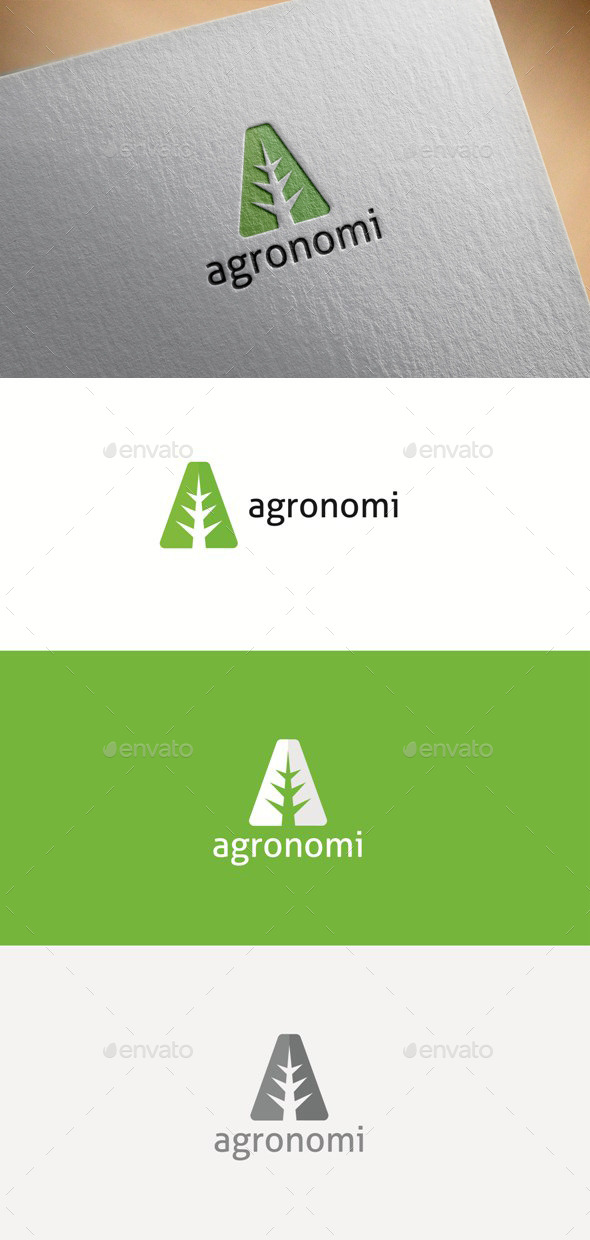Agronomy - Letter A - Letters Logo Templates