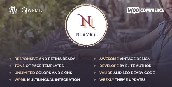 Nieves – Beauty Salon WordPress Theme