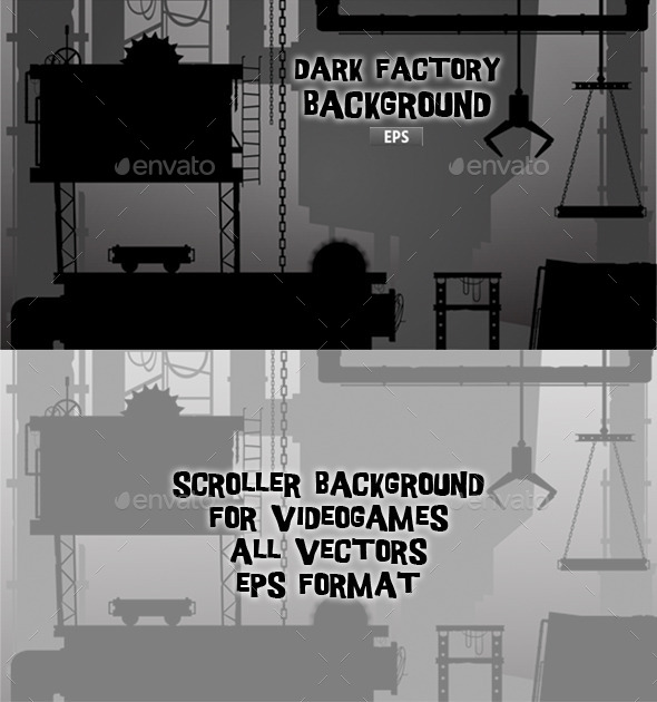 Dark Factory - Backgrounds Game Assets