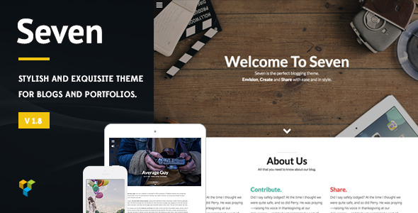 Seven – Stylish WordPress Theme