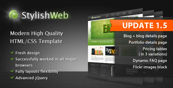 StylishWeb | Modern High Quality HTML/CSS Template - Corporate Site Templates