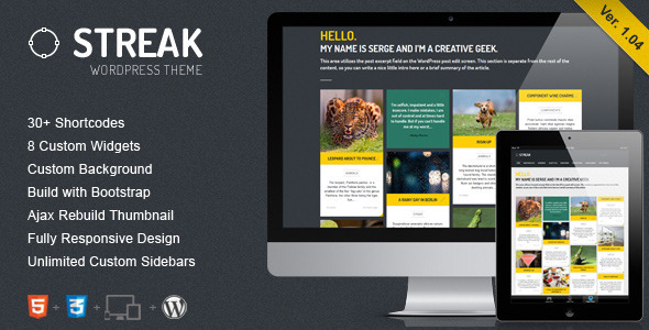Streak – Responsive WordPress Blog / Portfolio