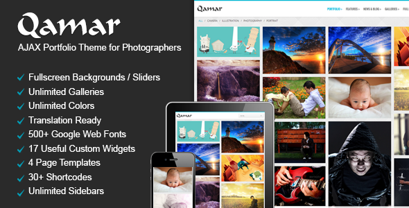 Qamar – Portfolio WordPress Theme for Photographers