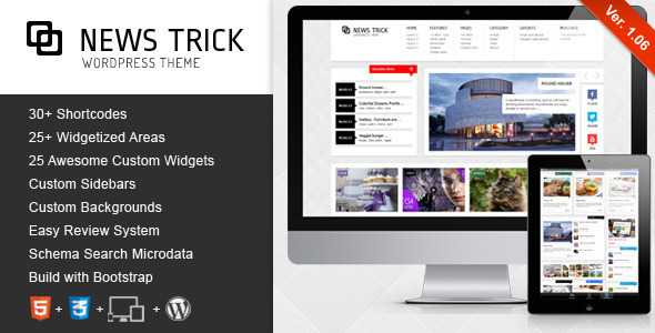NewsTrick – Responsive WordPress Magazine / Blog