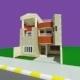 Pediment Modern House - 3DOcean Item for Sale
