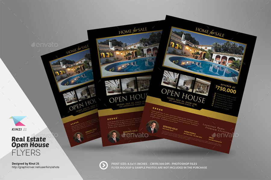 Real Estate Open House Flyer Templates by kinzishots | GraphicRiver