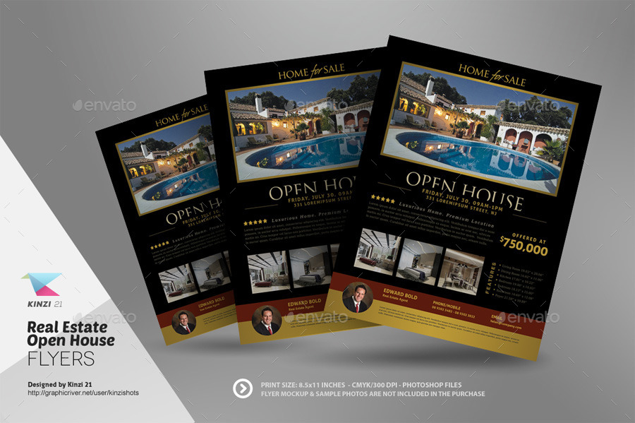 ... Screenshots/03_graphic River Real Estate Open House Flyer Templates Kinzishots  ...  Home Sale Flyer Template
