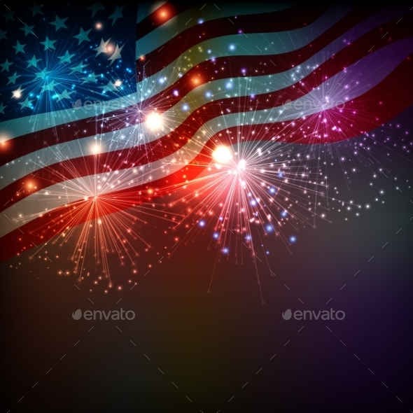 Fireworks Background for 4th of July - Miscellaneous Seasons/Holidays