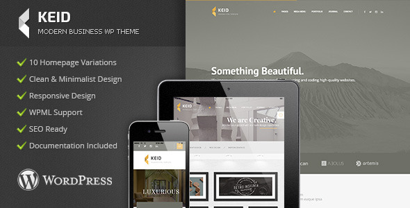 Keid - Modern Multipurpose WordPress Theme