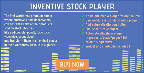 Inventive stock player - CodeCanyon Item for Sale