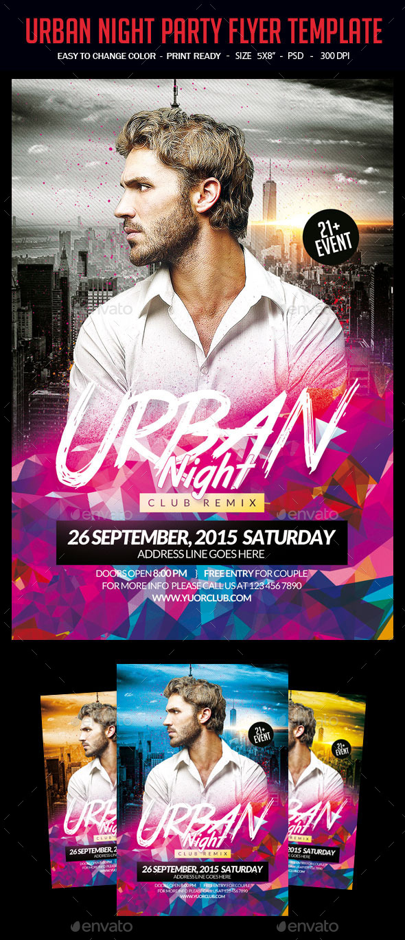 Urban Night Party Flyer Template - Events Flyers