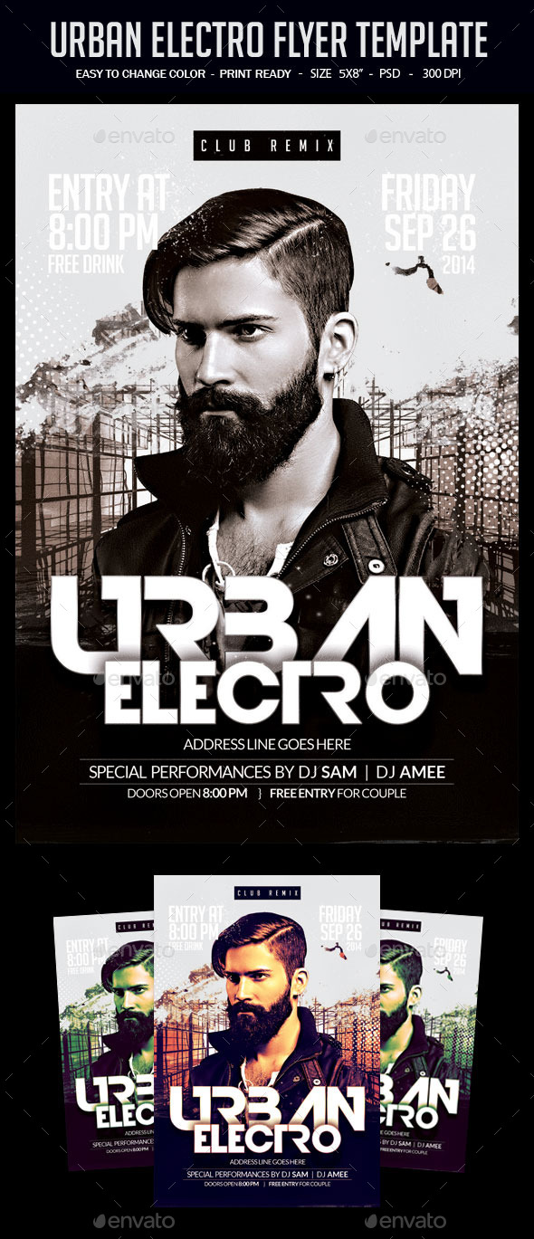 Urban Electro Flyer Template - Clubs & Parties Events