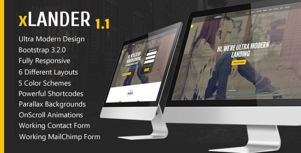 xLander - Premium Landing Page Template - Landing Pages Marketing