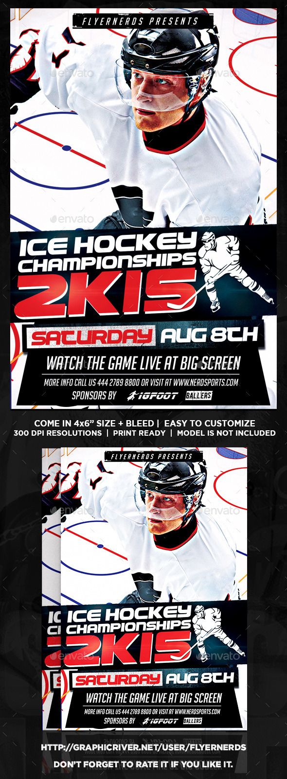 Ice Hockey Championships 2K15 Sports Flyer - Sports Events