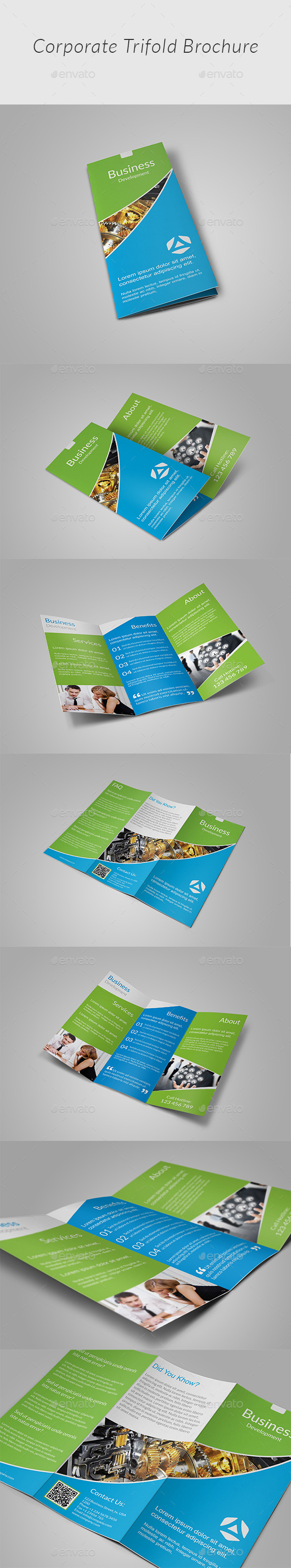 Clean Tri-fold Brochure - Corporate Brochures