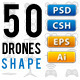 50 RC Drones Vector - GraphicRiver Item for Sale