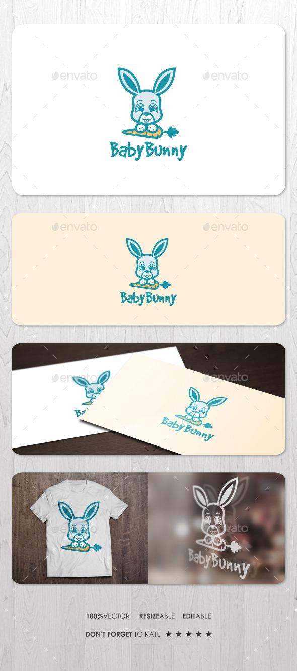 Baby Bunny - Animals Logo Templates