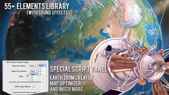 VIDEOHIVE Earth Zoom Pro Kit 7962581 (With 12 December 17 UPDATE)