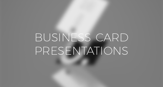TheTasteBureau | Business Card Presentations