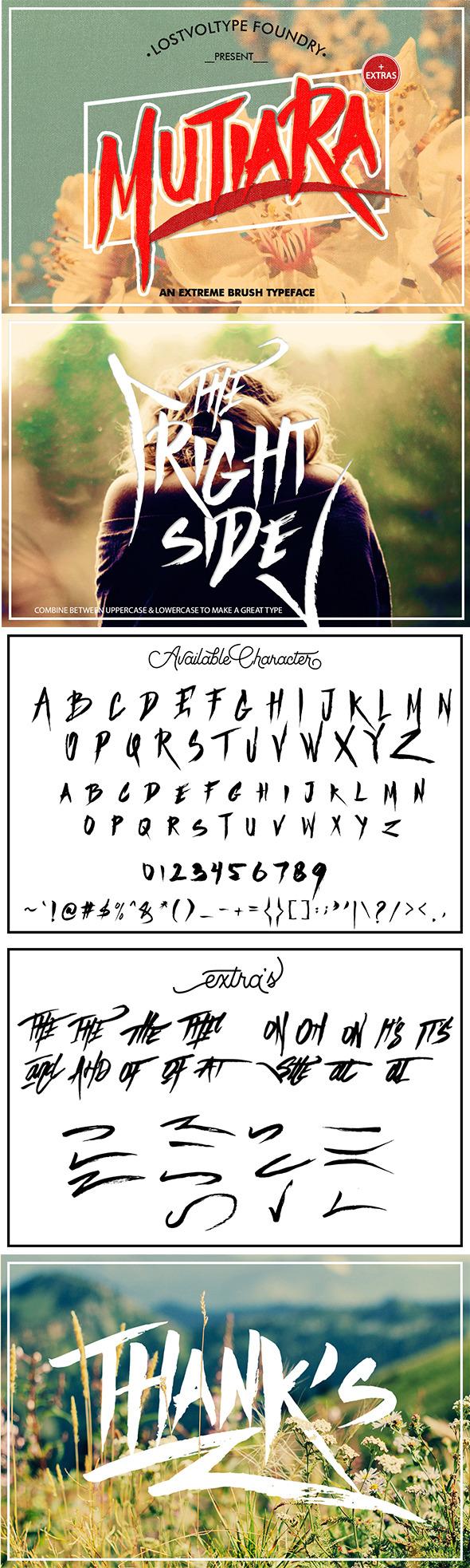 Mutiara Brush + Extras - Fonts