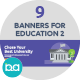 Flat Concept Banners for Education 2 - GraphicRiver Item for Sale