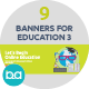 Flat Concept Banners for Education 3 - GraphicRiver Item for Sale