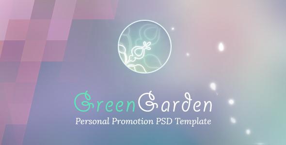 Green Garden – Personal PSD Template