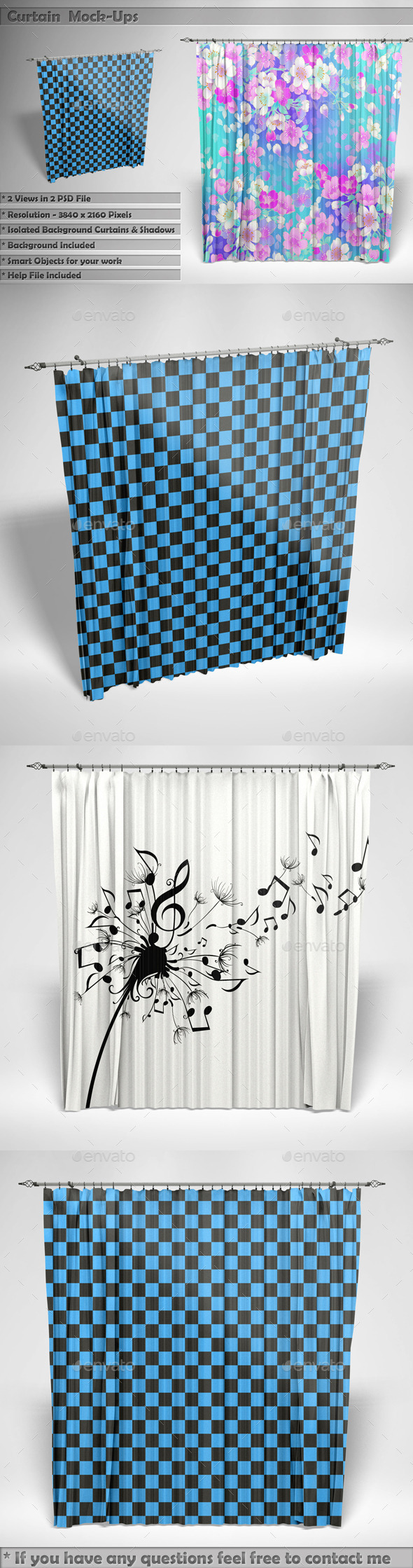Curtain Mockups - Miscellaneous Product Mock-Ups