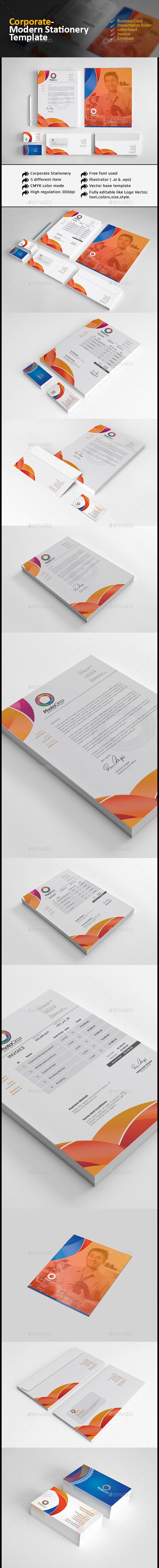 Corporate Modern Stationery - Stationery Print Templates