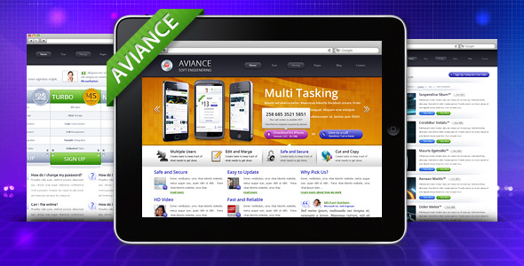 Free Download Aviance - Creative and Business HTML Template Nulled Latest Version
