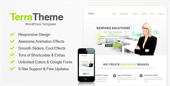 Terra – Responsive Multi-Purpose WordPress Templete