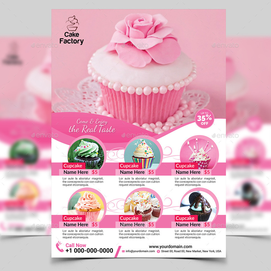 Cupcake Flyer Template by aam360 | GraphicRiver