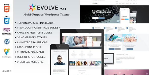 Evolve – Multipurpose WordPress Theme