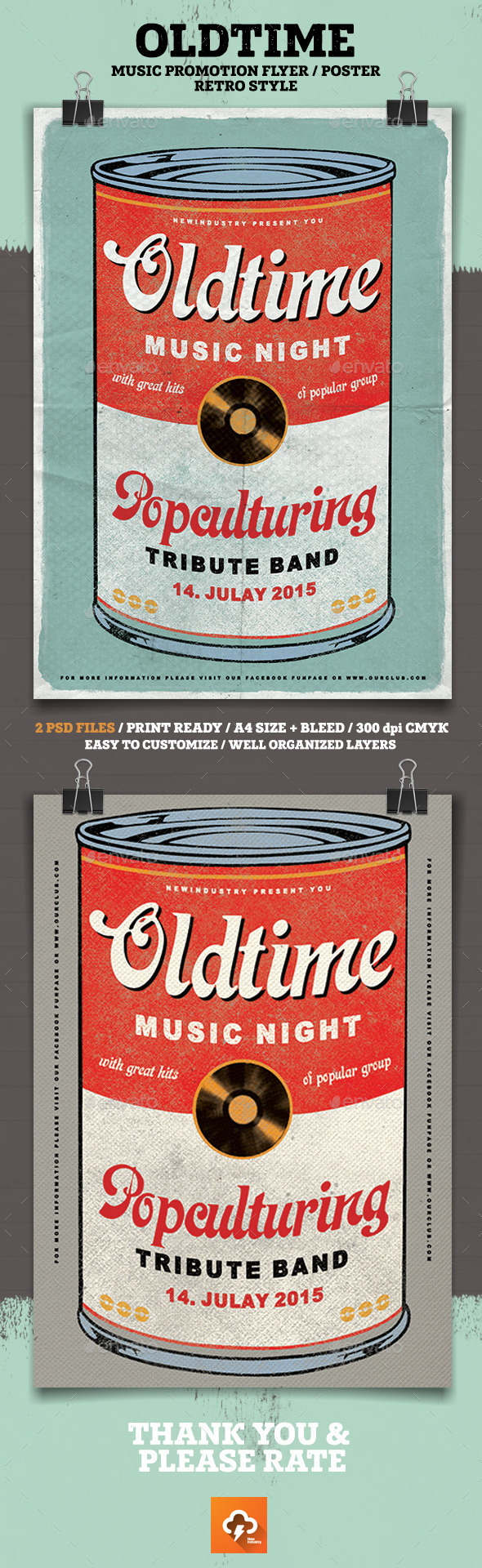 Oldtime Music Flyer/Poster - Events Flyers