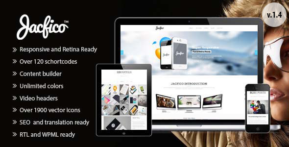 Jacfico – A flexible One Page WordPress Theme