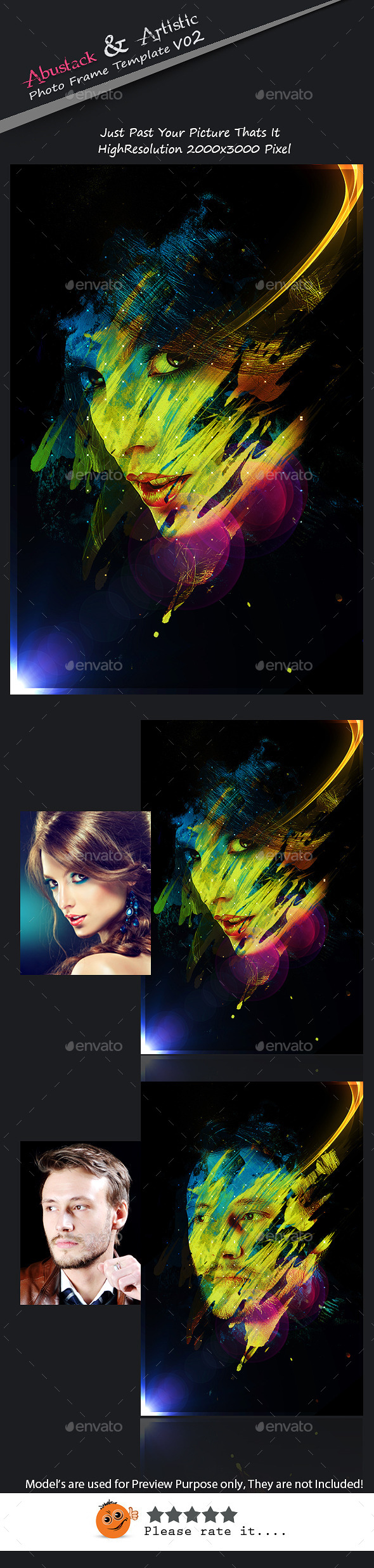 Abstrakt & Artistic Photo Frame Template v02 - Artistic Photo Templates